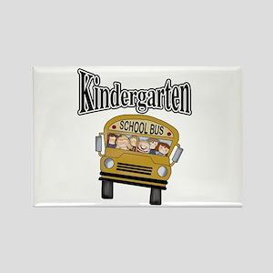 School Bus Kindergarten Rectangle Magnet