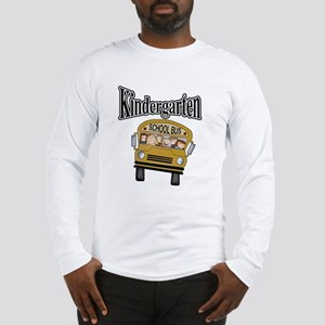 School Bus Kindergarten Long Sleeve T-Shirt