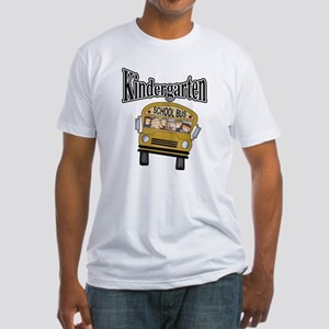 School Bus Kindergarten Fitted T-Shirt
