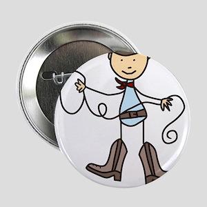 """100% Cowboy 2.25"""" Button"""