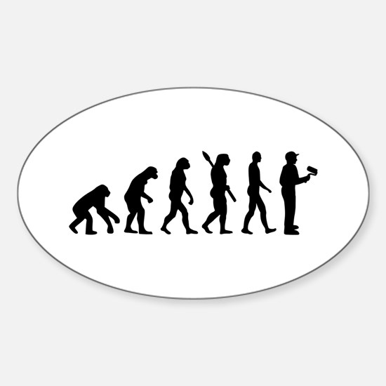 Painter evolution Sticker (Oval)