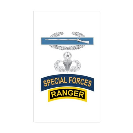 CIB Airborne Master SF Ranger Sticker (Rectangle)