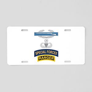 CIB Airborne Master SF Ranger Aluminum License Pla