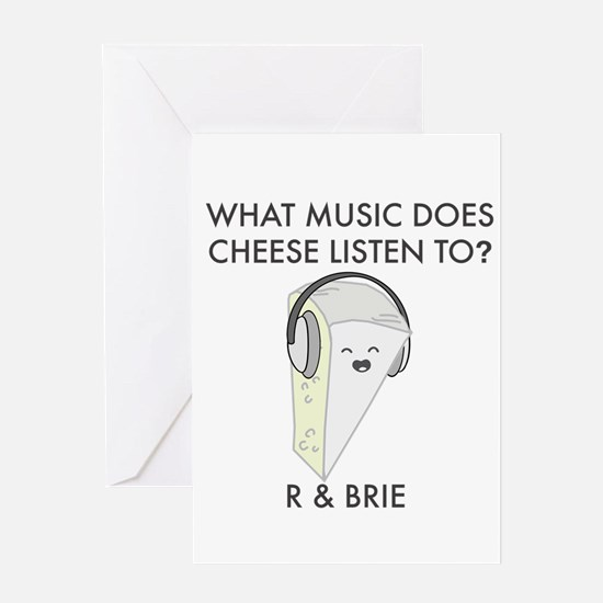 R & Brie - funny cheese pun Greeting Cards