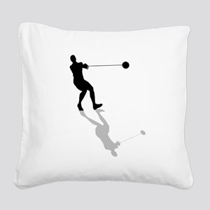 Hammer Throw Square Canvas Pillow
