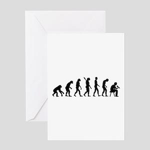 Tattoo artist evolution Greeting Card