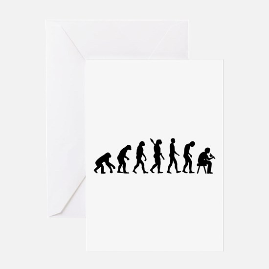 Tattoo artist evolution Greeting Card
