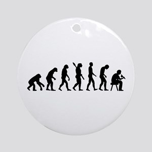 Tattoo artist evolution Ornament (Round)