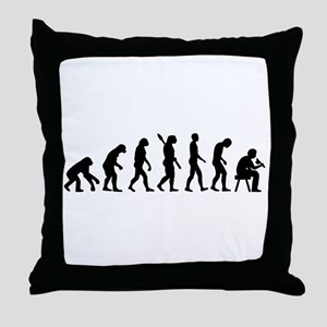 Tattoo artist evolution Throw Pillow