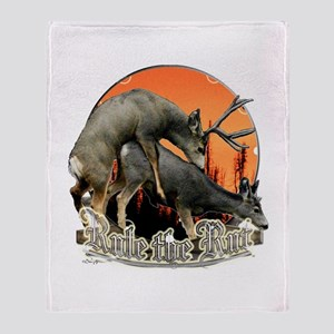 Rule the rut Throw Blanket