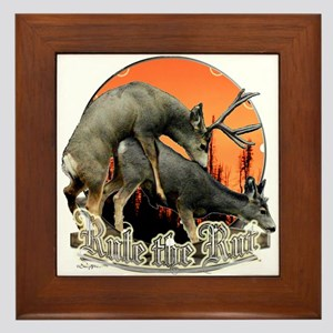 Rule the rut Framed Tile