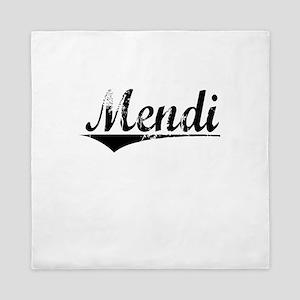 Mendi, Aged, Queen Duvet