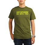 Metaphors Be With You Organic Men's T-Shirt (dark)