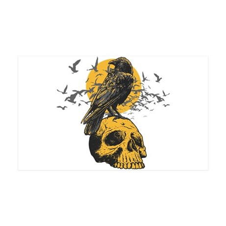 Skull and Crow 35x21 Wall Decal