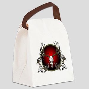 mule deer skulls Canvas Lunch Bag