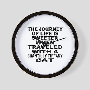 Traveled With chantilly tiffany Cat Wall Clock