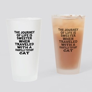 Traveled With chantilly tiffany Cat Drinking Glass