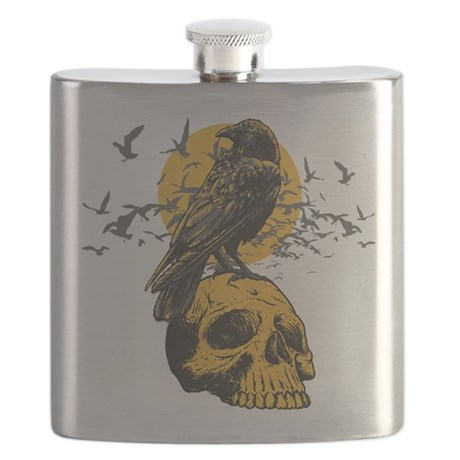 Skull and Crow Flask