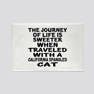 Traveled With california spangled Rectangle Magnet