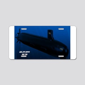 SSN-785 Design Team Logo Aluminum License Plate