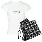 Scad Jack (Green Jack) fish Women's Light Pajamas
