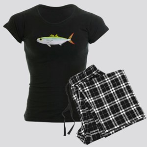 Scad Jack (Green Jack) fish Women's Dark Pajamas