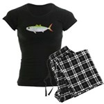 Scad Jack (Green Jack) fish Women's Dark Pajamas