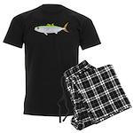 Scad Jack (Green Jack) fish Men's Dark Pajamas