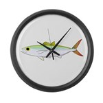 Scad Jack (Green Jack) fish Large Wall Clock