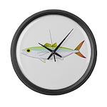 Scad Jack (Green Jack) fish Large Wall Clock