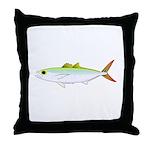Scad Jack (Green Jack) fish Throw Pillow
