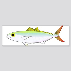 Scad Jack (Green Jack) fish Sticker (Bumper)
