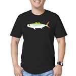 Scad Jack (Green Jack) fish Men's Fitted T-Shirt (