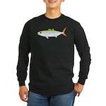 Scad Jack (Green Jack) fish Long Sleeve Dark T-Shi