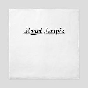 Mount Temple, Aged, Queen Duvet