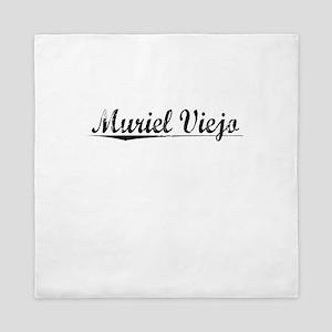 Muriel Viejo, Aged, Queen Duvet