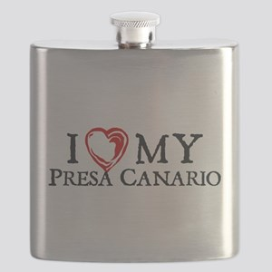 I Heart My Presa Canario Flask