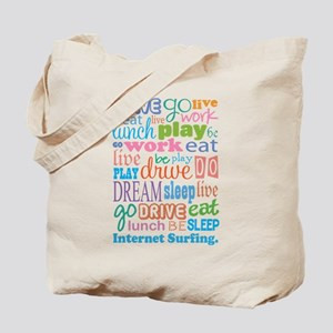 Internet Surfing Tote Bag