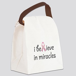 i believe in miracles Canvas Lunch Bag