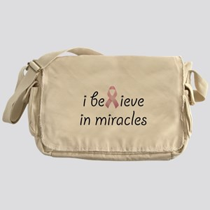 i believe in miracles Messenger Bag