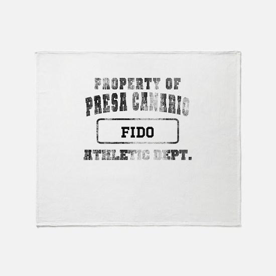 Personalized Prop of Presa Canario Throw Blanket