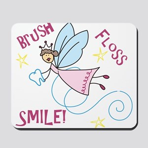 Brush Floss Smile Mousepad