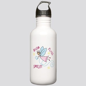 Brush Floss Smile Stainless Water Bottle 1.0L