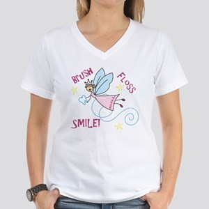 Brush Floss Smile Women's V-Neck T-Shirt