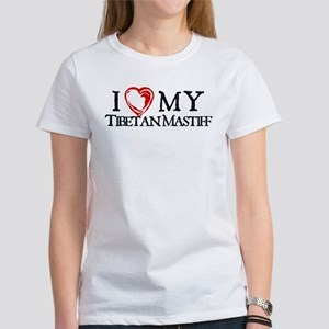 I Heart My Tibetan Mastiff Women's T-Shirt