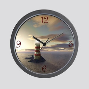 Lighthouse at Sunrise Wall Clock