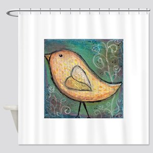 Summer Bird Shower Curtain