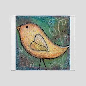 Summer Bird Throw Blanket