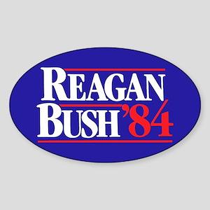 Reagan Bush 84 Sticker (Oval 10 pk)