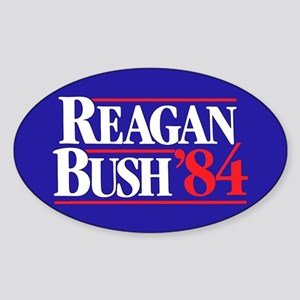 Reagan Bush 84 Sticker (Oval)